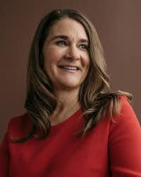 Melinda Gates in Kirkland, Wash., Feb. 1, 2018. In their annual update for the Gates Foundation, which has given away well over $41 billion since its inception in 2000, the Gates's say that they remain optimistic about the worldÕs progress, but that President TrumpÕs policies could hurt their philanthropic efforts. (Kyle Johnson/The New York Times)(KYLE JOHNSON/NYT)