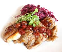 Duck scaloppini with red cabbage and cherry wine sauce (David Woo/Staff Photographer)