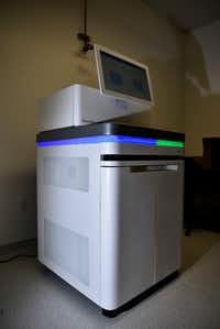A Illumina NovaSeq 6000 sequencer or DNA machine, used to sequence a person's entire genome, at the engineering research labs on the campus of the University of Texas at Arlington.(Ben Torres/Special Contributor)