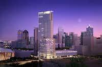 The site was previously planed for a 43-story Mandarin Oriental Hotel and condos.(DMN files.<div><br></div><div><br></div>)