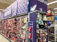 Claire's aisle located inside the Toys R Us in Frisco during the 2017 holiday shopping season. Photo was taken on Nov. 24, 2017. (Maria Halkias/Dallas Morning News )