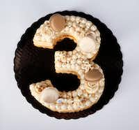 A 'number' macaron cake from Bisous Bisous Patisserie (Jae S. Lee/Staff Photographer)