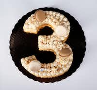 A 'number' macaron cake from Bisous Bisous Patisserie(Jae S. Lee/Staff Photographer)