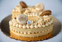 A 'number' macaron cake by Andrea Meyer of Bisous Bisous Patisserie(Jae S. Lee/Staff Photographer)
