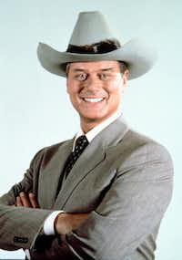 This 1981 file photo provided by CBS shows Larry Hagman in character as J.R. Ewing in the Dallas television series.(1981 File Photo/The Associated Press)