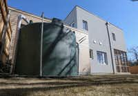 The passive house includes a 3,500-gallon rainwater collection tank. (Ron Baselice/Staff Photographer)