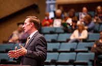 North Texas Municipal Water District Executive Director Thomas Kula addressed Plano council members during Tuesday's meeting.(Anja Schlein/Special Contributor)