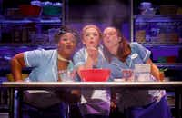 From left: Charity Angel Dawson, Desi Oakley and Lenne Klingaman in the national tour of <i>Waitress</i>, presented by Dallas Summer Musicals at Fair Park Music Hall March 28-April 8, 2018.&nbsp;(Joan Marcus)