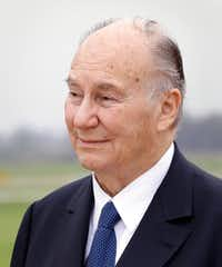 The Aga Khan during his arrival at the Sugar Land Regional Airport on March 18.(Michael Wyke/Special Contributor)