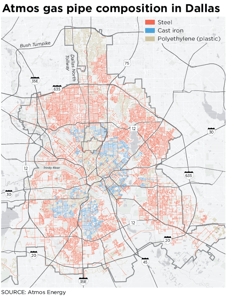 See which Dallas neighborhoods have the same pipes as those involved on
