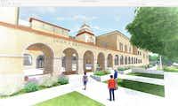 Rendering of John S. Bradfield Elementary School's new building.(Highland Park ISD)