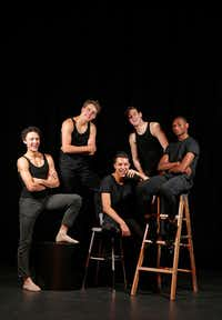 From left, Kade Cummings, 18, Zane Unger, 17, Michael Garcia, 18, Todd Baker, 18, and Ricardo Hartley, 18, pose for a photograph at Booker T. Washington High School for the Performing and Visual Arts in Dallas, Thursday, May 11, 2017. They have been accepted to attend the Juilliard School in New York City.  (Jae S. Lee/Staff Photographer)