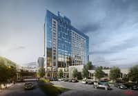 A Hyatt hotel is under construction at Stonebriar Centre in Frisco. The mall is about 6 miles north of Plano's Shops at Willow Bend. Both malls are making major investments to diversify the uses at the properties, which have been retail-only enclaves.(Stonebriar Centre/Courtesy photo)