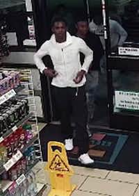 One of the suspects believed to be involved in a series of robberies in Mesquite(Mesquite Police Department)