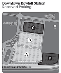Starting May 7, only residents of Dallas Area Rapid Transit's service area will be allowed to park in areas A and B of the Downtown Rowlett station.(Dallas Area Rapid Transit/Courtesy)