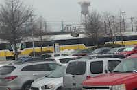 Ridership at the Downtown Rowlett Station has grown about 50 percent since Dallas Area Rapid Transit extended the blue line to the city in late 2012. The parking lot is over capacity at times with a little more than a third of the riders coming from outside DART's service area(Ray Leszcynski/Staff)