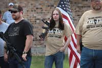 Advocating for the rights of gun owners, a group of demonstrators stage a counter-protest near a March for Our Lives rally on March 24, 2018 in Killeen, Texas.(Scott Olson/Getty Images)