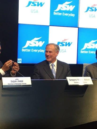 Texas Gov  Greg Abbott announces deal with Indian firm to