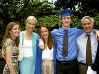 From left to right: Lily Adams, Cecile Richards, Hanna Adams, Daniel Adams and Kirk Adams, shown at the twins' (Hanna and Daniel) graduation. (Courtesy)