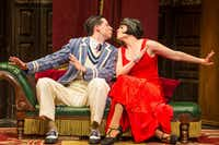 Alex Mandell and Amelia McClain in the Olivier and Tony Award winning production of <i>The Play That Goes Wrong</i>, which will be part of the AT&T Performing Arts Center's six-show 2018-19 Broadway Series.(<span>Jeremy Danie </span>)