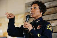 Dallas Police Chief U. Renee Hall (Nathan Hunsinger/Staff Photographer)