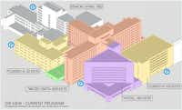 A preliminary plan for the 38-acre former Parkland Hospital campus shows a variety of uses. (Dreien Opportunity Partners)
