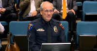 Plano Police Chief Gregory W. Rushin explains a proposal at the March 20 Plano City Council meeting that would add 15 new school resource officers in Plano ISD beginning in August 2019. (Courtesy)