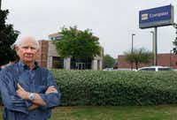 <p>Philip Ham in front of BBVA Compass Bank. He accused Compass of harm because he withdrew money from his CD and did not realize he was one day short of the maturity date that cost him $16,000 in taxes. His contention is that the bank didn't warn him. The bank says it did.</p>(David Woo/Staff Photographer)