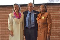 From left: Lori Barnett Dodson, Louis Moore and Leala H. Green are the candidates to replace Douglas Athas as Garland mayor in the May 5 election. (Garland Chamber of Commerce)