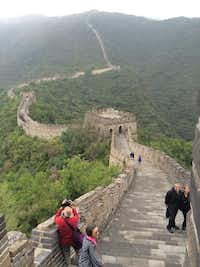 A view of the Mutianyu section of the Great Wall of China.(Thomas Huang/The Dallas Morning News)