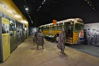 The National Civil Rights Museum shares stories of the struggle for racial equality, including the Birmingham, Ala., bus boycott of the mid-1950s. The protest followed the arrest of Rosa Parks, now a legendary name in the civil rights movement.(National Civil Rights Museum/TNS)
