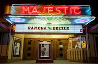 On Oct. 4, 2010, tickets are sold for the final movie shown at the Majestic Theatre in Wills Point, Texas. The Majestic opened in 1926.(Brendan Sullivan/Staff Photographer)