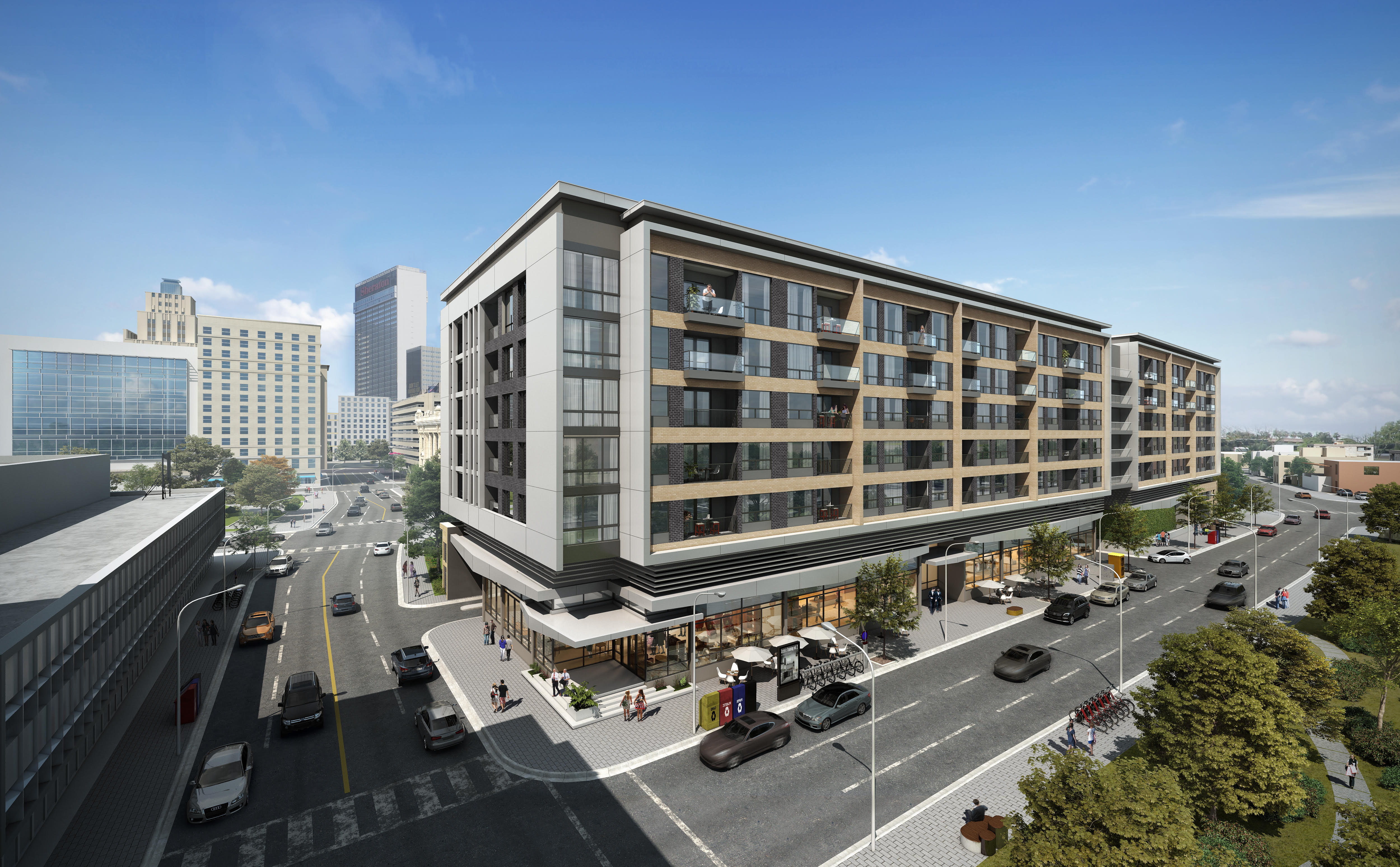 New apartment and retail building will overlook planned downtown ...