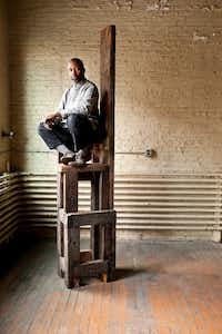 Theaster Gates, a Chicago-area artist, is the first American Nasher Prize winner.(PETER HOFFMAN/The New York Times<br>)