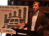 "<p>Democratic gubernatorial candidate <a name=""firsthit"" id=""firsthit"" style=""""></a>Andrew White explains a job-creation plan at Impact Hub in South Austin on April 3, 2018. White's plan includes ""TEXpress 2020,"" a statewide mass transit network that would use self-driving, clean energy vehicles. (Robert T. Garrett/Staff)</p>"