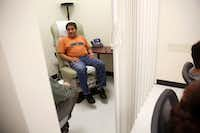 Juan Angon waits for his private exam during a shared medical appointment for patients with diabetes at Parkland Hospital's Vickery Health Center in Dallas last year. (Rose Baca/The Dallas Morning News)(Rose Baca/Staff Photographer)