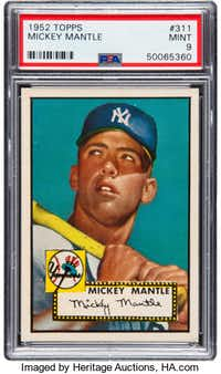 You'll need a cool $1.95 million to submit a bid for the rare mint card.(Heritage Auctions)