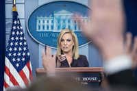 Homeland Security Secretary Kirstjen Nielsen speaks at a White House press briefing on April 4, 2018, about President Donald Trump's plans to send National Guard personnel to the Mexican border.(NICHOLAS KAMM/AFP/Getty Images)