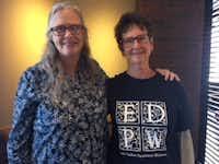 Trish Major (left) and Anice Greiner.(Jacquielynn Floyd/Staff)