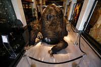 """King Dong"" sculpture by Haas Brothers, (Simon and Niki) at The Joule Hotel in Dallas on March 13, 2018. (Nathan Hunsinger/The Dallas Morning News)(Nathan Hunsinger/Staff Photographer)"