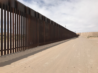 "<p><span style=""font-size: 1em; background-color: rgb(255, 255, 255);"">T</span><span style=""font-size: 1em; background-color: transparent;"">his bollard fence in Sunland Park, New Mexico, went up a year ago as part of President Obama's construction project to replace old fencing. The same style will be extended miles away, but it will now be called a wall.&nbsp;</span></p>(Alfredo Corchado/The Dallas Morning News)"
