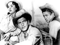 &nbsp;<i>Giant</i>,&nbsp; starred (left to right) Elizabeth Taylor, Rock Hudson and James Dean.&nbsp;(File Photo/(DMN file))