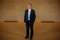 Kennth Hersh, the president and chief executive officer of the George W. Bush Presidential Center, is shown in the entrance to the George W. Bush Institute.(Andy Jacobsohn/Staff Photographer)