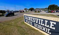 The front entrance of the Gainesville State School in Gainesville.(Jae S. Lee/Staff Photographer)