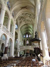 The Church of St. Etienne-du-Mont in Paris, where Maurice Duruflé and his wife Marie-Madeleine Duruflé-Chevalier were co-organists.(Scott Cantrell/Special contributor)