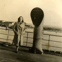 Magda Sternberg on the ship coming to America in November 1949. (Provided)