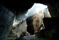 An inside view the Yule Marble Quarry(Colorado Stone Quarries)