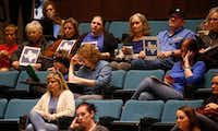 Concerned residents listen to a  presentation about water quality in Plano during a City Council meeting on March 20, 2018. (Anja Schlein/Special Contributor)