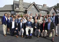 The Bush family poses for a photo in June 2015 at the family estate in Kennebunkport, Maine. The family gathered for a gala planned to celebrate Barbara Bush's 90th birthday. Among those present were former President George H.W. Bush, former President George W. Bush, former Florida Gov. Jeb Bush, and their families.(Evan Sisley/Office of George Bush)