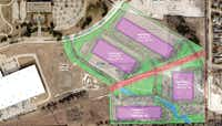 JacksonShaw wants to develop a 4-building industrial park in Richardson.(Jackson-Shaw)